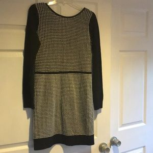 Club Monaco black white sweater dress
